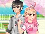 Романтическая аниме одевалка