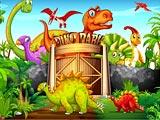 Динозавры пазлы делюкс