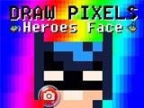 Рисовать по пикселями лица героев
