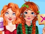 Деревенская девушка и городская девушка