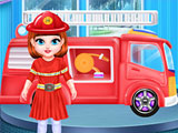 Малышка Тейлор пожарный
