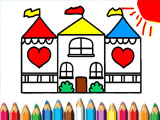 Кукольный домик раскраска