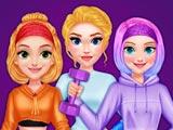 Принцессы идут в спортзал
