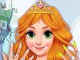 Маникюр для блондинки принцессы