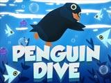 Пингвин ныряет