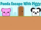 Побег панды с поросенком